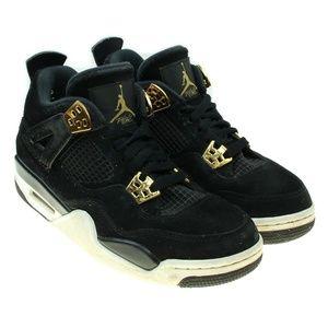 Nike Air Jordan 4 Retro Royalty BG Black Sneakers